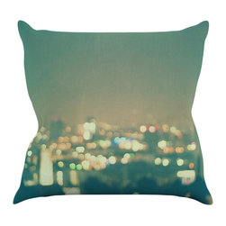 "Kess InHouse - Myan Soffia ""Anniversary"" City Lights Throw Pillow (18"" x 18"") - Rest among the art you love. Transform your hang out room into a hip gallery, that's also comfortable. With this pillow you can create an environment that reflects your unique style. It's amazing what a throw pillow can do to complete a room. (Kess InHouse is not responsible for pillow fighting that may occur as the result of creative stimulation)."