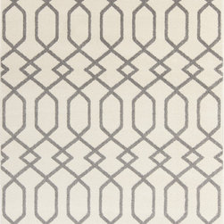 """Surya - Surya Horizon HRZ-1048 (Ivory, Gray) 5'3"""" x 7'3"""" Rug - These Turkish made rugs feature transitional designs set in a durable, comfortable polypropylene pile. Surya's Horizon collection allows the buyer to attain sophistication and elegance for their home without requiring a king's ransom. The color palette makes use of slate blue, charcoal, olive, and gold."""