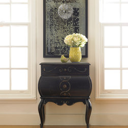 Hooker Furniture - Hooker Furniture Bombe Accent Chest 500-50-815 - This elegant bombe accent chest from Hooker Furniture will add a touch of elegance to you home decor. The resin finish on oak veneers with a slightly distressed look will present a mature look for your home.