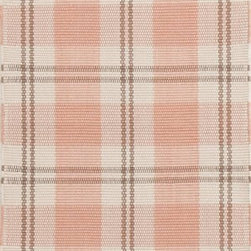 Dash & Albert - Dash & Albert Molly Indoor-Outdoor Rug by Bunny Williams - Designer Bunny Williams collaborates with Annie Selke to create an irresistible line of transitional area rugs for your everyday home. Dash & Albert Molly  Indoor/Outdoor Rug by Bunny Williams rugs are hoseable, srcubable and made from recycled materials. A classic plaid in pink, brown and ivory. These indoor/outdoor rugs are so soft and durable that you can use them in any room inside or outside on a patio or deck.