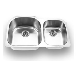 YOSEMITE HOME DECOR - Yosemite Home Decor MAG3320 18-Gauge Stainless Steel Undermount Double Bowl Kitc - These high quality Yosemite sinks are a heavy gauge, type 304 (18/8), surgical grade, stainless steel for maximum durability - 18-Percent chromium (for shine) and 8-Percent nickel (for rust resistance). Stainless steel is an extremely durable surface; it can, however, be scratched or scuffed. When scuffing does occur, please remember that this is normal and the effect will become uniform with age. The high quality stainless steel does not lose its attractive shine.
