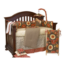 Cotton Tale Designs - Peggy Sue 7pc Crib Bedding Set - Peggy Sue 7pc crib bedding by Cotton Tale Designs is a combination of perfectly balanced cottons, with accents in washed linens and bold floral prints.