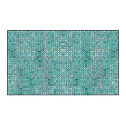 Casart coverings - Faux Glass Tile, Teal/Gray Wallcoverings, Teal/Gray, Backsplash (15 Sq. Ft.), Ca - Why build architectural interest when you can peel and stick your carpentry saving time, money and commitment? Printing on our regular material can accommodate covering an accent wall or an entire room.
