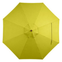9' Round Sunbrella® Sulfur Umbrella Cover - A bright sulfur yellow canopy in fade- and mildew-resistant Sunbrella® acrylic blocks out 98% of the sun's rays. Fits all of our 9' round frames. For frame and stand options with this cover, see below (frames and stands sold separately).