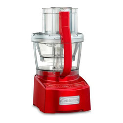 Cuisinart - Cuisinart FP-12MR Elite Collection 12-cup Food Processor - Red Multicolor - 0862 - Shop for Choppers and Food Processors from Hayneedle.com! About CuisinartOne of the most recognized names in cookware and kitchen products Cuisinart first became popular when introduced to the public by culinary experts Julia Child and James Beard. In 1973 the Cuisinart food processor revolutionized the way we create fine food and healthy dishes and since that time Cuisinart has continued its path of innovation. Under management by the Conair Corporation since 1989 Cuisinart is a universally celebrated name in kitchens across the globe. With a full-service product line including bakeware blenders coffeemakers cookware countertop appliances kitchen tools and much much more Cuisinart products are preferred by chefs and loved by consumers for durability ease of use superior quality and style.