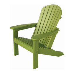 DutchCrafters - Amish Made Polywood Comfo-Back Adirondack Chair - Handcrafted by skilled Amish woodworkers in the USA, the Amish Polywood Comfo-Back Adirondack Chair is the ideal choice in outdoor furniture.  Constructed from environmentally friendly poly-wood, these chairs are built to withstand even the toughest conditions and will never fade, chip, crack, rot or decay.  Forget about the regular maintenance and storage typically associated with wooden outdoor furniture.  These poly wood Adirondack Chairs will never need to be painted or stained and with a 20 Year Warranty for residential use, you can ensure that are getting the best use of your investment in quality outdoor furniture!