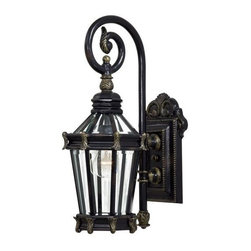 Minka-Lavery - Minka-Lavery Stratford Hall 1-Light Outdoor Wall Mount - 8930-95 - This 1-Light Wall Lantern has a Gold Finish and is part of the Stratford Hall Collection.