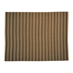 Striped Hand Woven Durie Kilim 8'x10' Flat Weave 100% Wool Oriental Rug SH14463 - Soumaks & Kilims are prominent Flat Woven Rugs.  Flat Woven Rugs are made by weaving wool onto a foundation of cotton warps on the loom.  The unique trait about these thin rugs is that they're reversible.  Pillows and Blankets can be made from Soumas & Kilims.