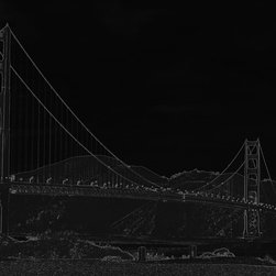 Golden Gate Bridge, 60x40, Metallic Photo Paper Print - Digital artwork on metallic photo paper or plexiglass. Wipe clean with a damp microfiber towel only. Only 1 piece will be produced in the size selected by the purchaser. No other sizes or options will be produced.