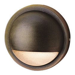 LANDSCAPE - LANDSCAPE Landscape LED Contemporary Deck Light X-RBB46751 - An LED light is housed within a half moon shape on this Kichler Lighting outdoor LED deck light. The contemporary style is complimented by the Bronzed Brass finish for a look that will compliment a variety of spaces.
