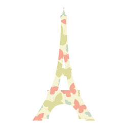 Bebe Diva - Eiffel Tower Butterfly Wall Decal - A quick and easy way to decorate your child`s room and nursery! This beautiful Eiffel Tower Wall Decal is modern but adds a touch of class to any room decor.