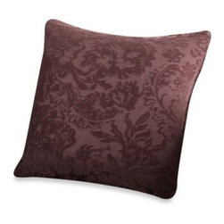 Sure Fit - Sure Fit Stretch Jacquard Damask 18-Inch Square Toss Pillow - A timeless classic goes modern with an innovative stretch jacquard fabric. The textural raised pattern is paired with a chic color palette for a sophisticated and unique look and the pillows feature a corded trim for a designer touch.
