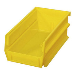 "Triton Products - Stacking, Hanging, Interlocking Polypropylene Bins, 7 3/8""L x 4 1/8""W x 3""H - The 3-220 series is our medium-sized stacking, hanging, interlocking polypropylene bin system. They are commercial grade high density polypropylene and are available in yellow, red and blue and can be used. ."