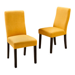 Great Deal Furniture - Heath Fabric Dining Chairs (Set of 2), Apricot - The Heath Dining Chairs are a perfect set to bring together any space in your home. They compliment almost any decor and even double as extra seating. These chairs will satisfy for years to come by offering comfort, style, and durability.
