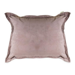 Majestic Home Goods - Villa Orange Floor Pillow - When there are more guests than seating, Majestic Home Goods exclusive Villa Aubergine Micro-velvet oversized floor pillows come to the rescue. Filled with super loft recycled polyester fiber fill, our floor pillows will add just the right amount of comfort to any room. Majestic Floor Pillows look just as good as they feel which makes them a perfect accent piece to your home. These oversized pillows have a 100% polyester, Micro-velvet slipcover that zips off for easy cleaning.