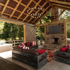 Farmhouse Patio by Tim Disalvo & Co.