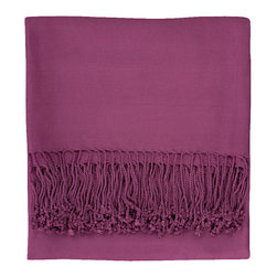 Nine Space - Solid Bamboo Viscose Throw, Plum - Throws like this are as functional as they are versatile. Toss one across a chair, chaise or bed to add an instant shot of color, then when the evening chill sets in, wrap yourself in its warmth. Oh-so soft and whisper light, this throw is woven from ecofriendly bamboo viscose that provides lightweight warmth to be enjoyed year-round.