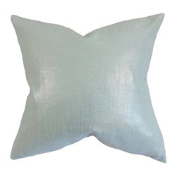 "The Pillow Collection - Florin Solid Pillow, Baby Blue 18"" x 18"" - Enjoy this cozy and plush accent piece when you add this to your living space."