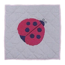 Patch Magic - Ladybug Toss Pillow - 16 in. W x 16 in. L. 100% Cotton. Machine washable.. Line or flat dry onlyDecorative applique Quilted Pillow.