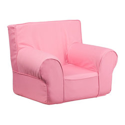 Flash Furniture - Flash Furniture Children's Chairs Kids Small Chairs X-GG-KP-DILOS-DIK-HC-GD - This comfy foam chair is a fun piece of furniture for children to enjoy for reading and relaxing. The lightweight design with carrying handle will allow this chair to be toted in several locations. The slipcover can be removed for cleaning or spot cleaned upon accidents. [DG-CH-KID-SOLID-PK-GG]