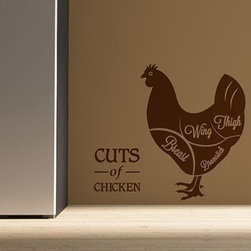 Binary Box - Cuts of Chicken Wall Sticker - Are you a breast or a wing kind of person? For all of you who love to serve up a mean Sunday roast or your famous hot wings on the BBQ, the Cuts of Chicken Wall Sticker would make a great addition to your kitchen wall or pantry. All of our wall stickers are precision cut from our high grade low-tac self adhesive vinyl and are supplied with detailed fitting instructions and pre-applied application tape to ensure easy, fast and fault-free application.