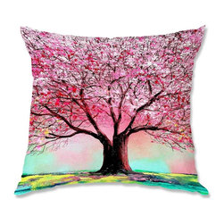 DiaNoche Designs - Pillow Woven Poplin - Aja-Ann Story of the Tree lxxiv - Toss this decorative pillow on any bed, sofa or chair, and add personality to your chic and stylish decor. Lay your head against your new art and relax! Made of woven Poly-Poplin.  Includes a cushy supportive pillow insert, zipped inside. Dye Sublimation printing adheres the ink to the material for long life and durability. Double Sided Print, Machine Washable, Product may vary slightly from image.
