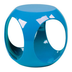 Ave Six - Slick End Table - The Slick collection is fun, functional and features retro contemporary styling that will add pizzazz to any room in the home. The occasional tables can be mixed and matched to create the perfect set up for your living room, bedroom or office. Features: -High gloss, molded table with internal storage area for magazines, books, and more.-See through design includes four side openings for easy storage area access.-Collection: Slick.-Distressed: No.Dimensions: -Dimensions: 17'' H x 15'' W x 15'' D.-Overall Product Weight: 12 lbs.