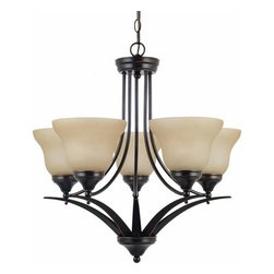Sea Gull Lighting - 5-Light Chandelier Burnt Sienna (includes bulbs) - 31174BLE-710 Sea Gull Lighting Brockton 5-Light Chandelier with a Burnt Sienna Finish