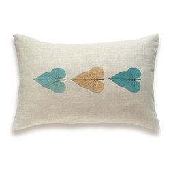 Leaf Print Decorative Lumbar Pillow Cover 12x18 inch HOJA DESIGN -