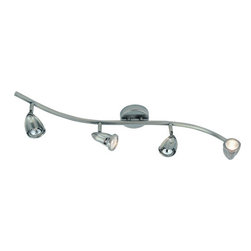 Trans Globe Lighting - Wave 4 Adjustable Track Light in Brushed Nickel -