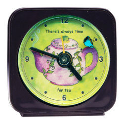 Time For Tea Alarm Clock - Time For Tea Alarm Clock by artist Pamela Corwin. Buy unique wall clocks, travel alarm clocks, decorative refrigerator magnets, and night lights online, at Seattle's Pike Place Market or at a local retailer.