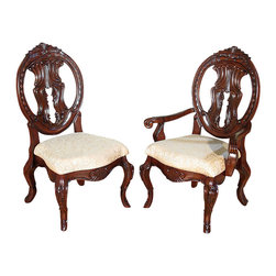 MBW Furniture - Set of 10 Solid Mahogany Victorian Round Back Dining Chairs - This product is finely constructed from top grade kiln-dried solid mahogany. Its superb quality will add a touch of elegance to your home.