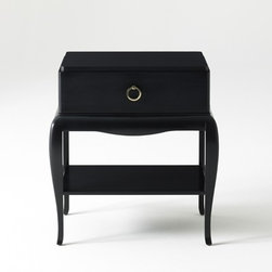 Fred & Ginger Side Table - Fred & Ginger Side Table - it's THE PERFECT name for this piece. It's has classic elegance and style.  That hoop drawer pull is the icing on the cake! Makes a perfect side table or nightstand.