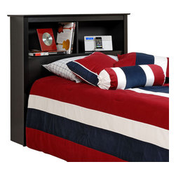 Prepac - Prepac Sonoma Black Twin Bookcase Headboard - Gain valuable storage space with the twin bookcase headboard. Ideal for smaller bedrooms, this headboard's two compartments offer more than enough room for your bedside necessities, whether an alarm clock or a teddy bear. With its simple design and everyday practicality, all this headboard needs is a bed. This free-standing product is designed to be paired with any twin bed including our twin mate's platform storage bed.