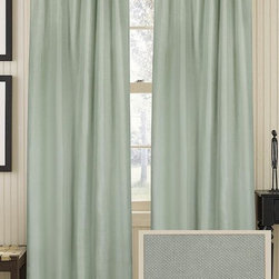 "Home Decorators Collection - Classic Linen Curtain Panel, Charlotte Blue - This curtain panel in ""Charlotte Blue"" reminds me of the perfect pale green color of some of the sea glass I've found."