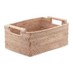 Brilliant Imports - Handle Basket - Haul your goodies in style with this easy to carry basket. Balinese weavers have mastered the intricate art of weaving in the fine ate grass with the thicker rattan to create these sturdy little beauties that are both functional AND fabulous!  Perfect to stash your CD's & DVD's in.