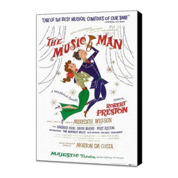 The Music Man (Broadway) 14 x 22 Poster - Style A - Museum Wrapped Canvas - The Music Man (Broadway) 14 x 22 Poster - Style A - Museum Wrapped Canvas. Amazing movie poster, comes ready to hang, stretched on canvas museum wrap canvas with color sides. Cast: Iggie Wolfington.