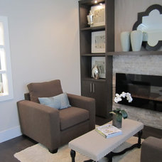 Transitional Living Room by Helen Hamilton Design Inc.