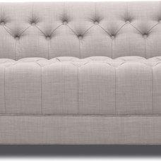 Modern Sofas Grand Grey Deluxe 3 Seat Sofa