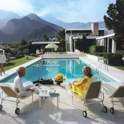 Poolside Gossip Mural - Make your wall into a famous photograph! These wall coverings can be customized to the size of your wall, and they look dynamic when installed. I'm thinking sophisticated family room.