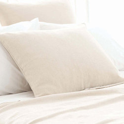 Pine Cone Hill - om sham - Soothing neutrals and soft, subtle textures create a tranquil aesthetic for our beach house collection. Classic decorative pillows, cotton bed sheets, plush duvet covers and more are the foundation for your casual chic cottage.