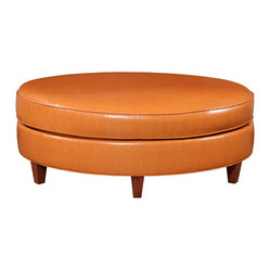 Raegan Oval Ottoman - orange