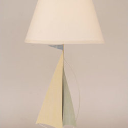 Coast Lamp Manufacturing - Salem One-Light Iron Sailboat Table Lamp - -Proudly made in the USA. Coast Lamp Manufacturing - 26BD