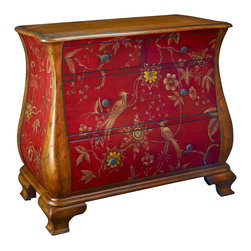 Hammary - Hammary T71468-00 Hidden Treasures Accent Chest With Hand-Painted Floral Accents - The Hidden Treasures collection is a fabulous assortment of one-of-a-kind accent pieces inspired by the greatest furniture designs from around the world. Each selection is a true treasure - rich in old world icons and traditions. All the pieces in this collection are crafted with attention to every detail. From brass nailhead trim and exquisite hand-painting to elegant shaping and decorative trim, every item is a unique work of art. A wide variety of materials is used to create the perfect look and finest quality - from exotic woods, leather and stone to raffia and glass. The huge selection of finishes, hardware, exceptional carvings and other final touches offer unsurpassed versatility for any room in the home. Hidden Treasures includes cocktail tables, occasional and accent pieces, trunks, chests, consoles, wine racks, desks, entertainment units and interesting storage pieces. Place one in a comfortable reading nook... In the family room for flair and variety... In the foyer for a welcome look... In a bedroom for cozy style... Or in the office for function and versatility. The pieces in this collection mix beautifully with any decorating style and will easily become the focal point in any setting.