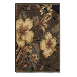 Chandra - Chandra Nassau Transitional Hand Tufted Floral Rug X-DR97-20731SAN - Chandra Nassau Transitional Hand Tufted Floral Rug X-DR97-20731SAN