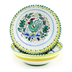 Artistica - Hand Made in Italy - ORVIETO: Round Traditional Pasta/Soup/Cereal Bowl - ORVIETO Collection: This is a very old and traditional pattern that originated during the Renaissance in the hill-top town of Orvieto - Italy.