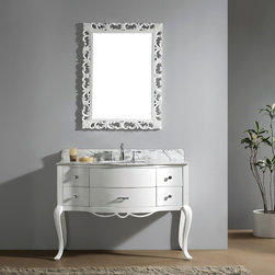 "Virtu USA - Virtu USA GS-6148 Charlotte 48"" Single Bathroom Vanity - A unique design that features both straight edges and gentle curves. This Charlotte bathroom vanity demands a second glance with its effortless beauty and pure elegance."