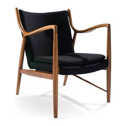 Martini Simplisse Chair - Chic and inspired by art nouveau design, the Martini Simplisse Chair makes a perfect fit for any room in the house. Angular armrests contrast with the curved forms of the upholstery. Great to use day in and day out, as a dining chair, in the living room, or as extra seating in the home office.
