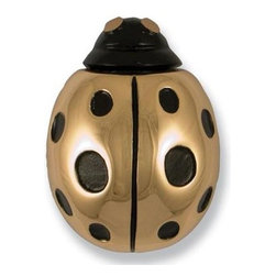 Michael Healy Solid Bronze Ladybug Door Knocker - Have a ladybug's luck year-round with this solid bronze door knocker by Michael Healy.