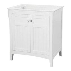 Pegasus - Pegasus Carrabelle 30 in. Vanity Cabinet in Glacier White (CAWV3021) - Carrabelle 30 in. Vanity Cabinet Only in White